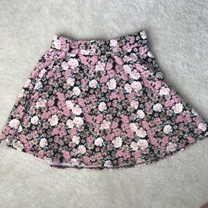 Charlotte Russe Floral Circle Skirt